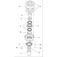 Втулка для уплотнения вала 740/3D 60x70x28 (5)